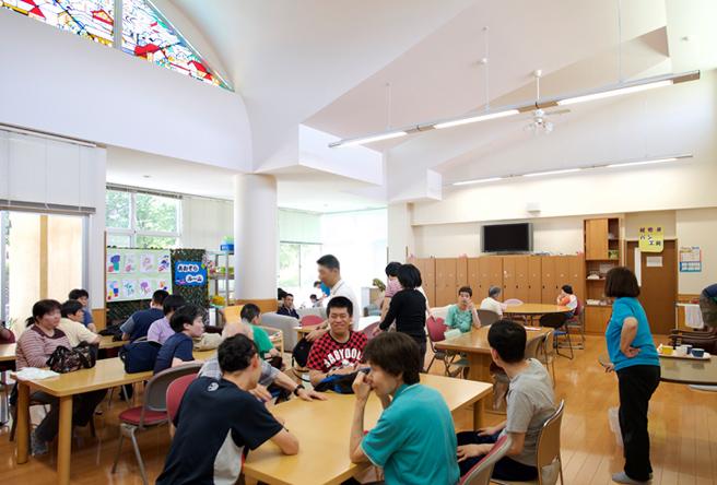 就労継続支援A型施設の食堂写真
